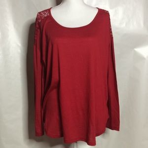 Tops - Red Lace Blouse